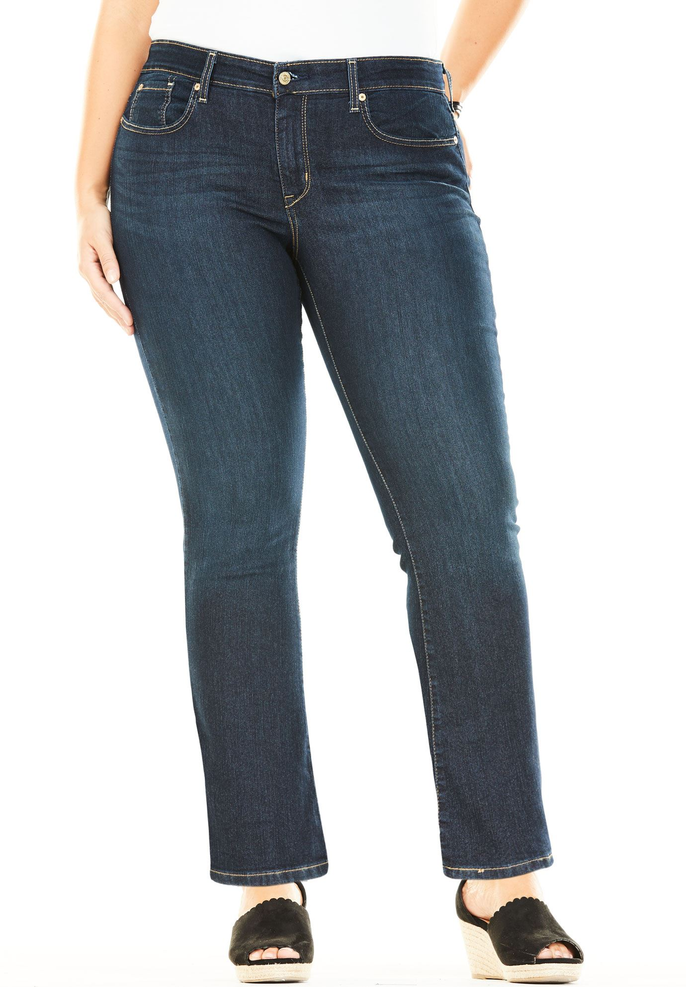 31d7c4e635d Signature by Levi Strauss & Co.™ Simply Stretch Plus Modern Bootcut  Jeans,