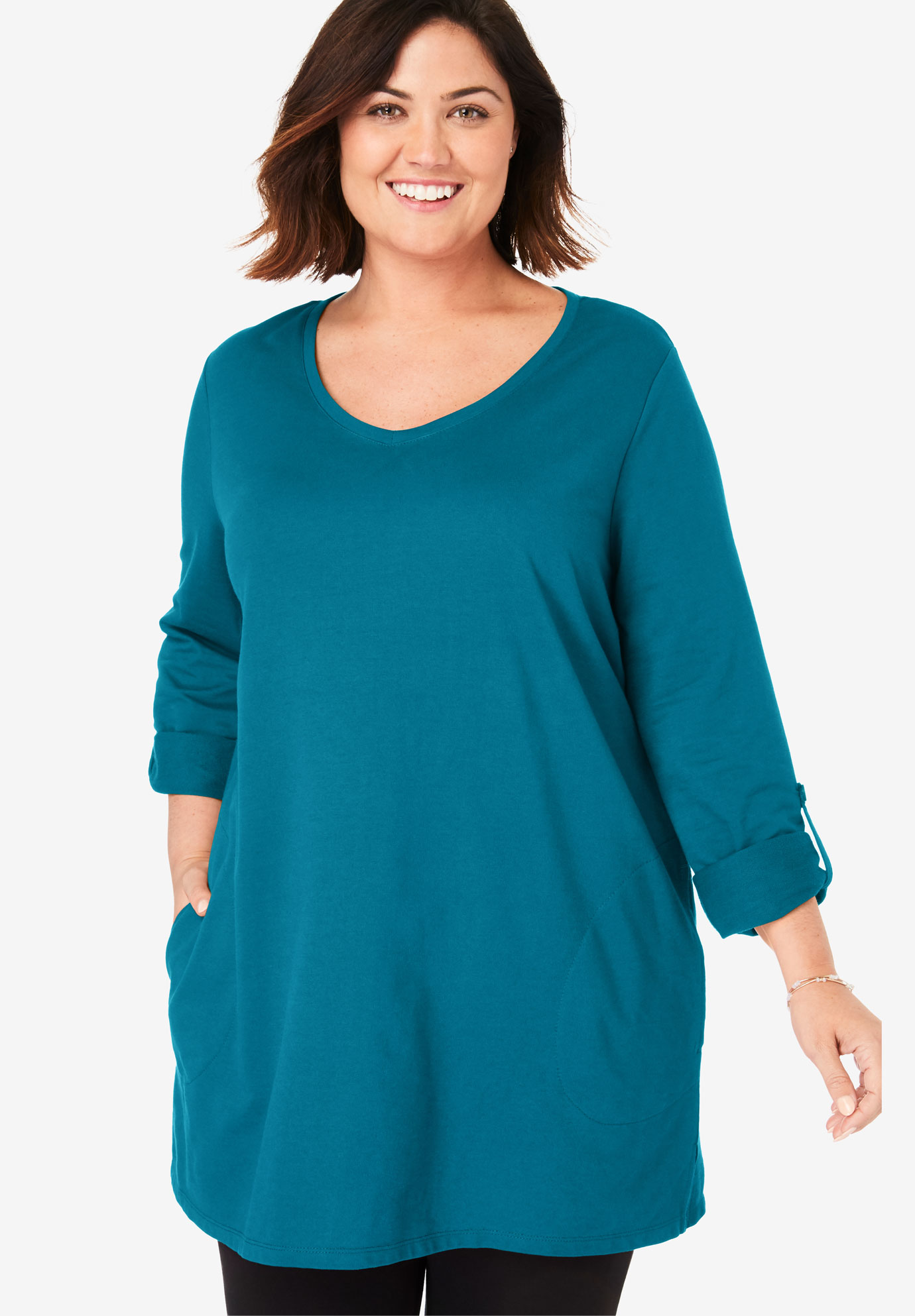 Roll-Tab French Terry Tunic,