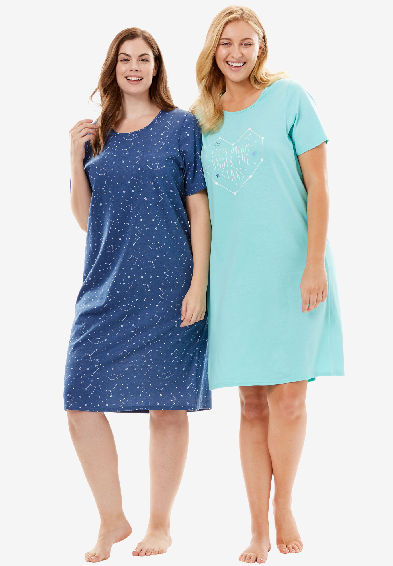 2-Pack Sleepshirt by Dreams & Co.®, LETS DREAM, hi-res