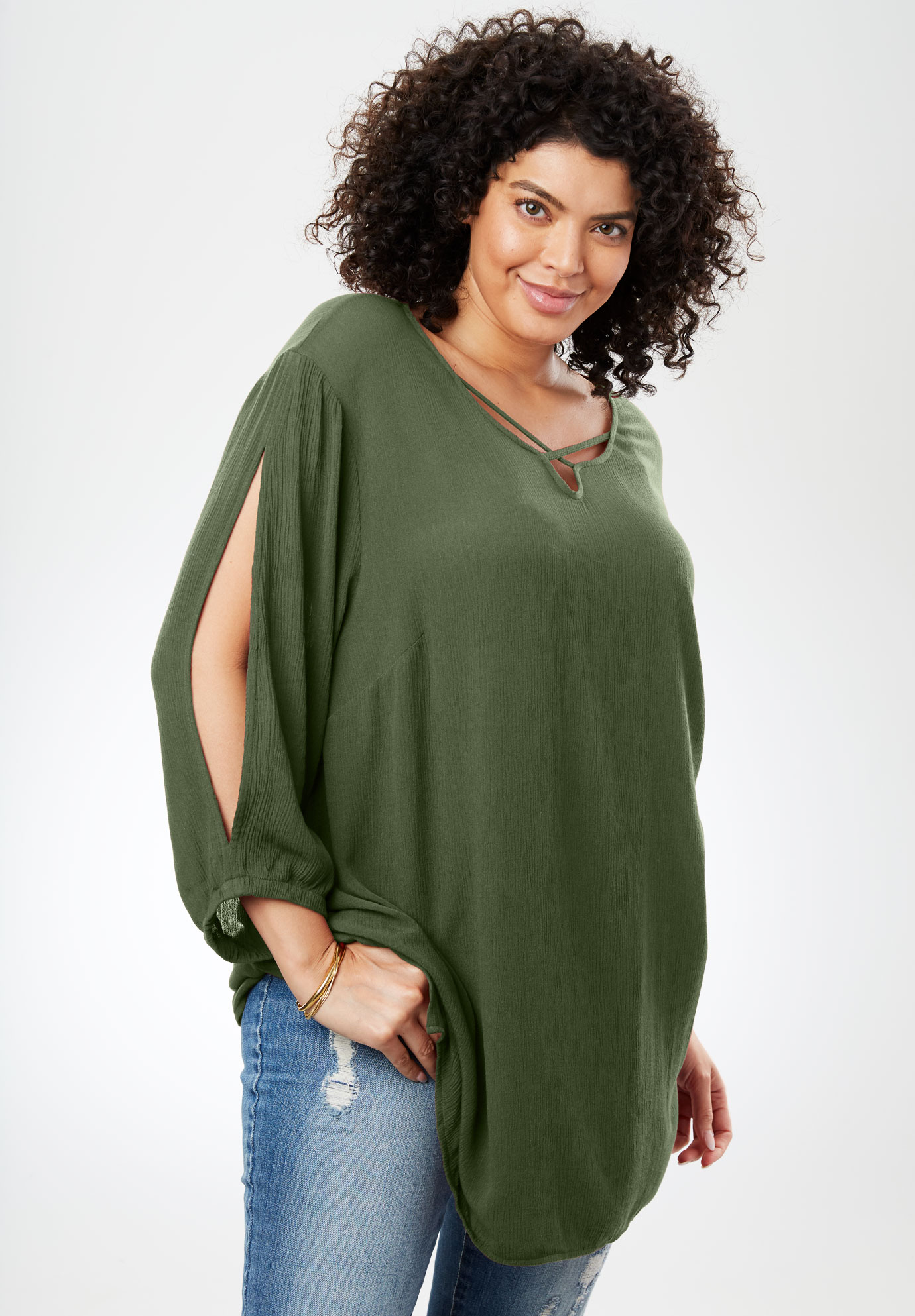 Textured Gauze Shirt,