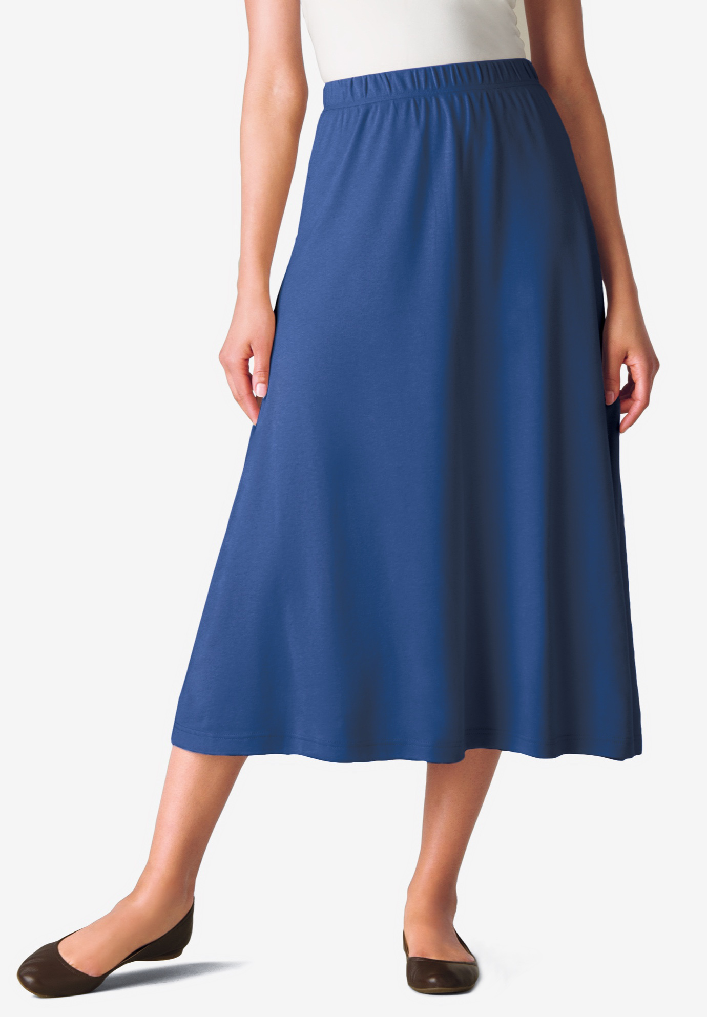 7-Day Knit A-Line Skirt, ROYAL NAVY, hi-res