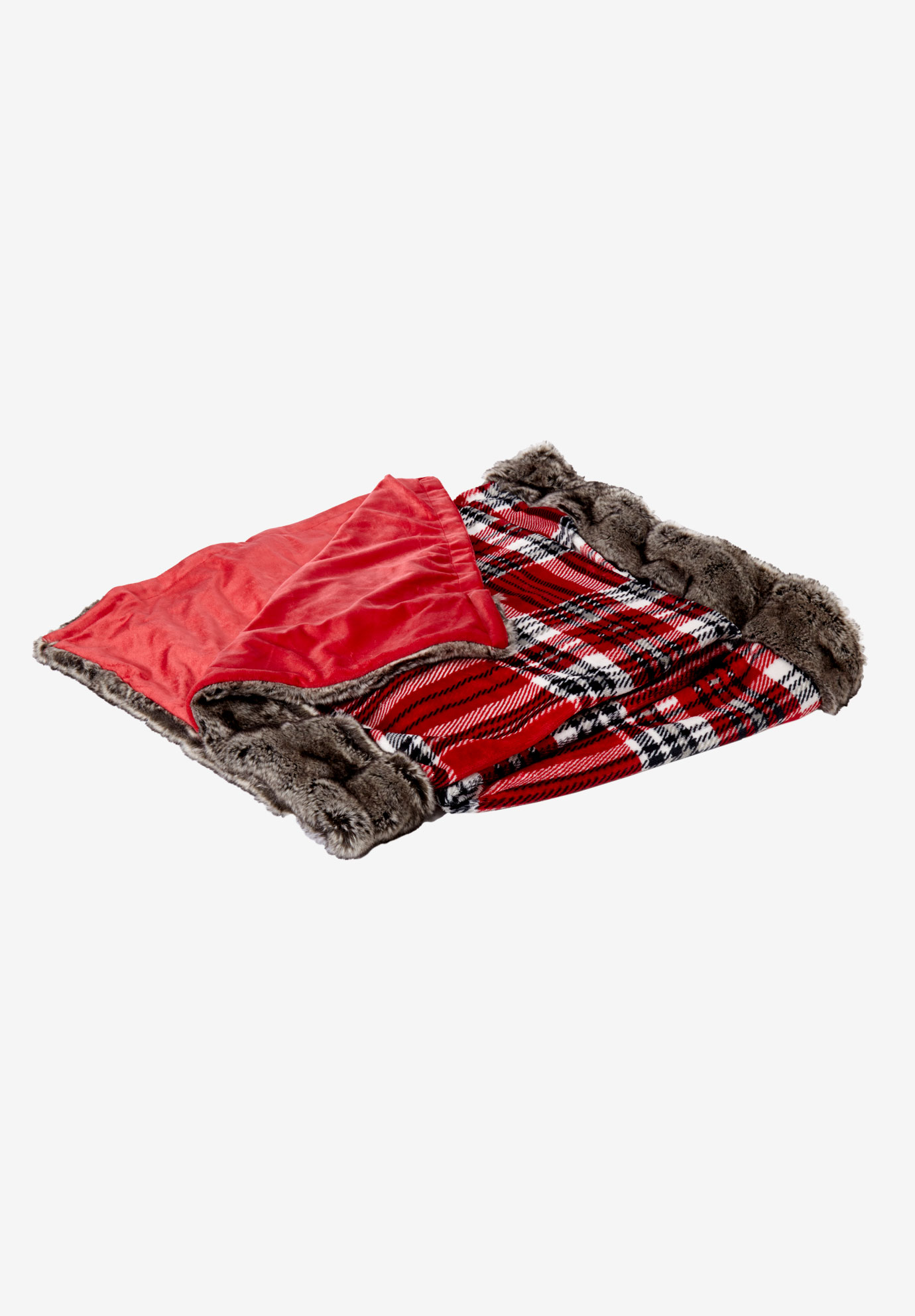 Plaid 2-Piece Pillow & Throw Set, PLAID