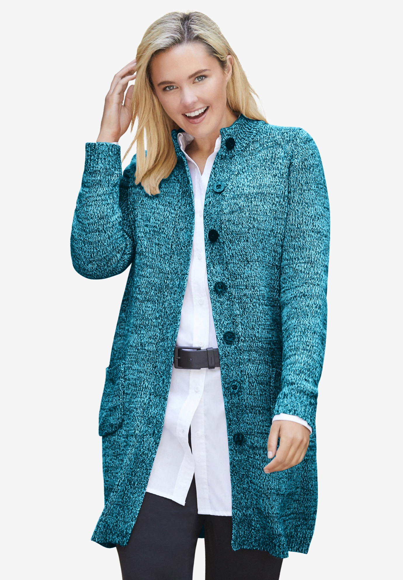 Marled Sweater Jacket,