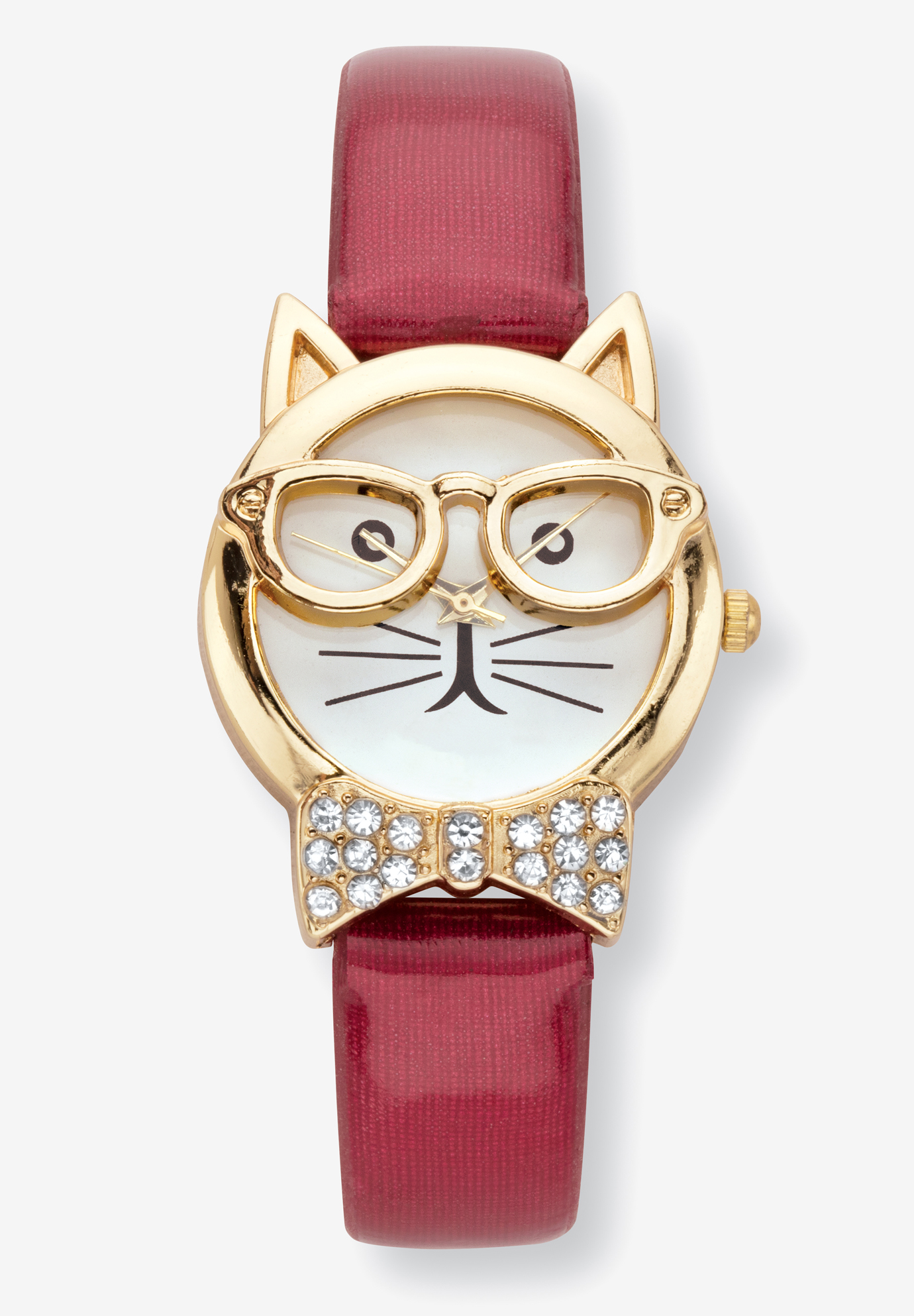 Cat Watch Round Crystal, RED