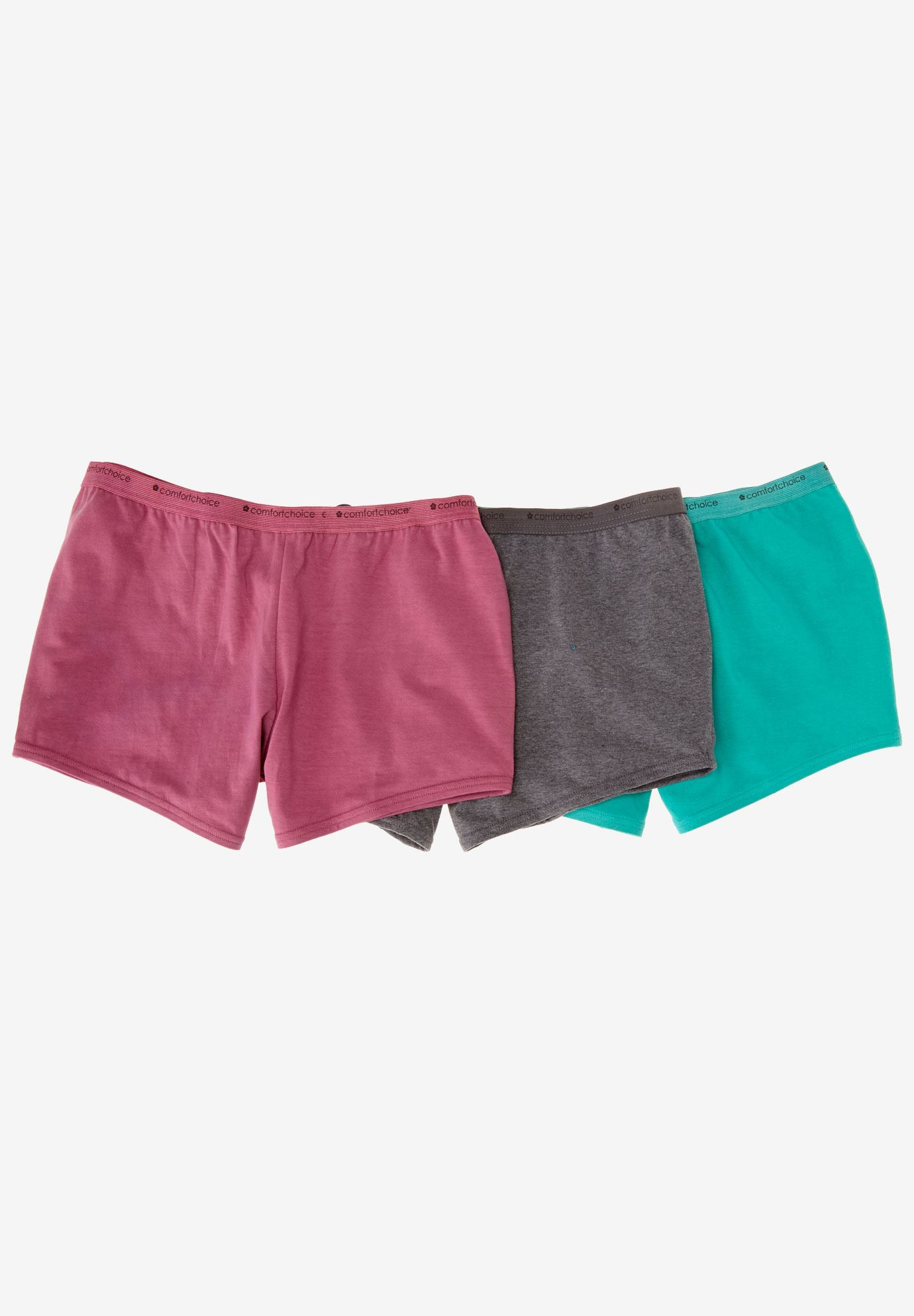 3-Pack Boyshort by Comfort Choice®, BRIGHT PACK, hi-res