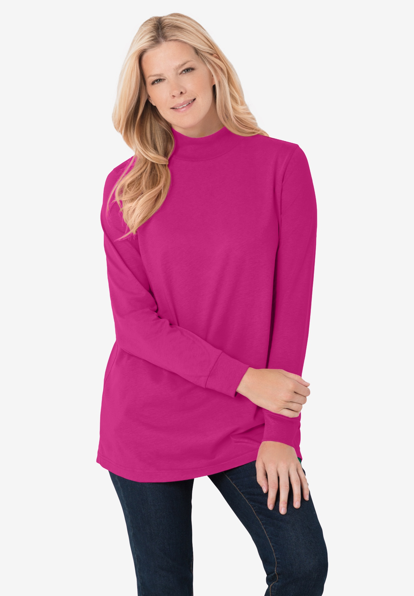 Perfect Long Sleeve Mock Turtleneck,