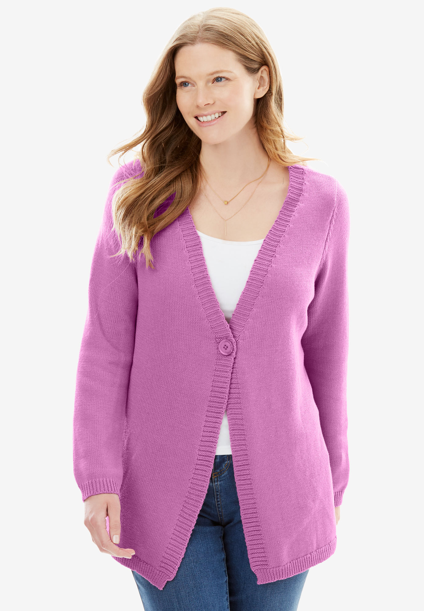 Crochet-Back Cardigan,