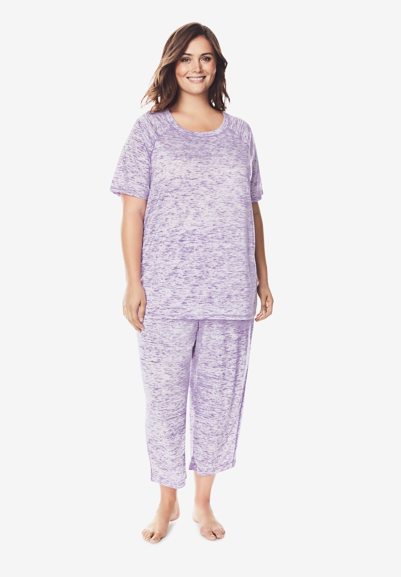 Marled Capri Pajama Set by Dreams & Co.®,