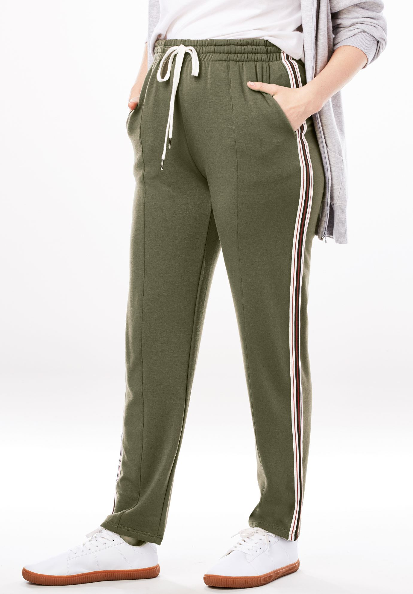 Front-Seam Fleece Pant,