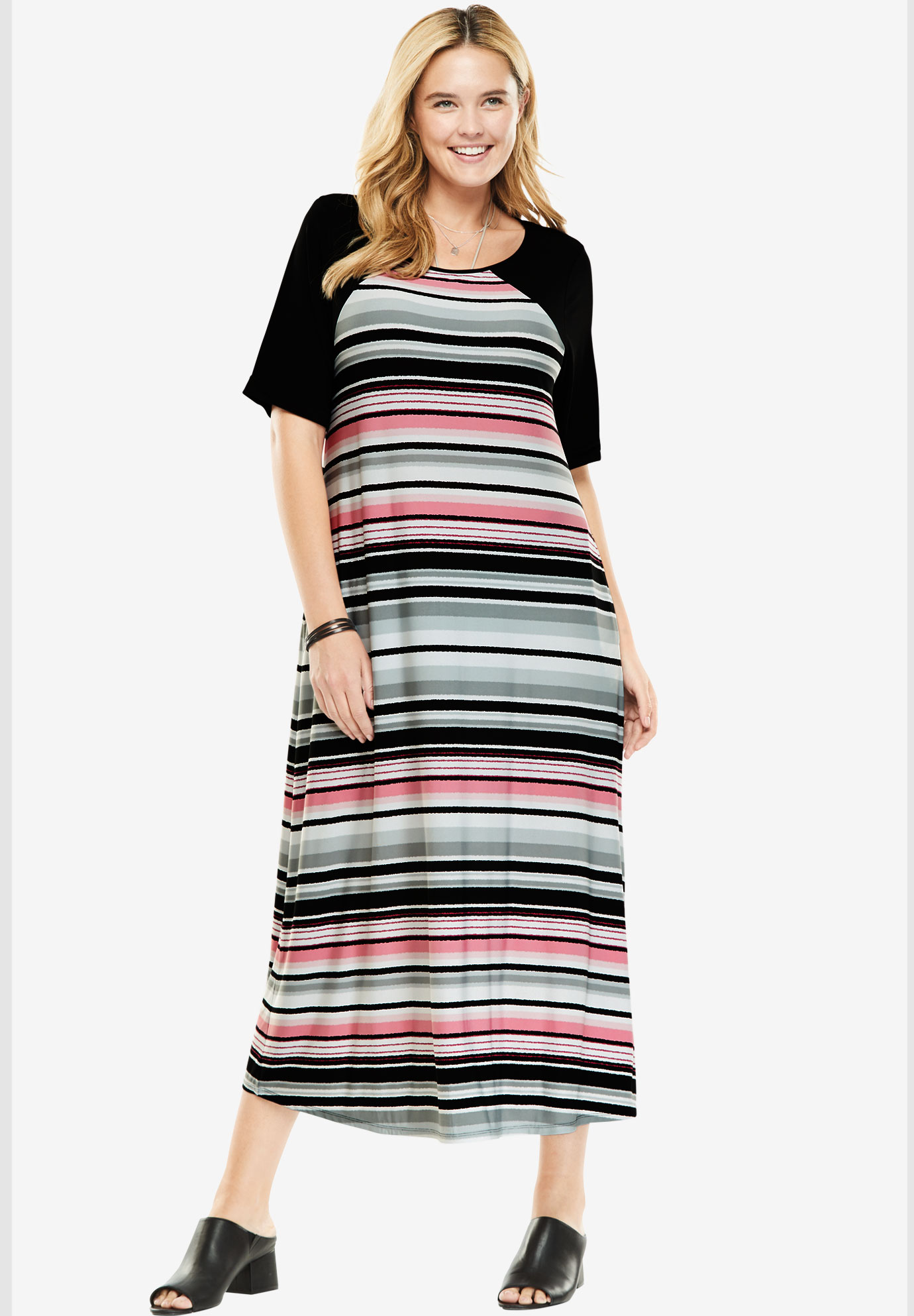 Colorblock Midi Dress,