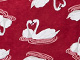Print Sleepshirt by Dreams & Co®, POMEGRANATE SWAN, swatch