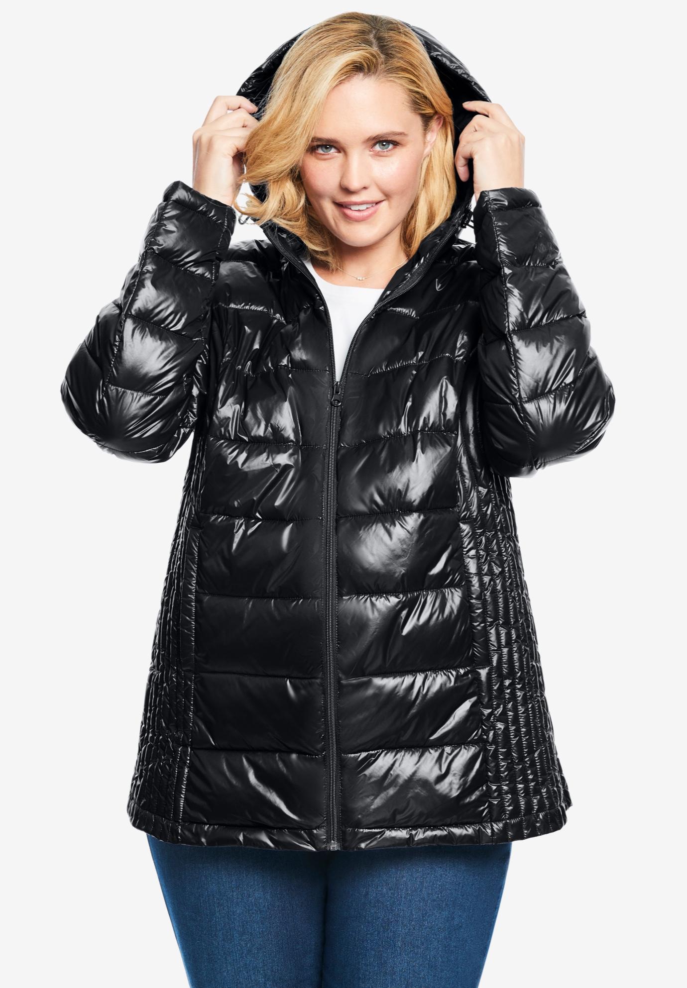 Packable Puffer Jacket, BLACK, hi-res