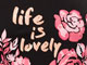 Three-Quarter Sleeve Graphic Tee, LIFE IS LOVELY, swatch