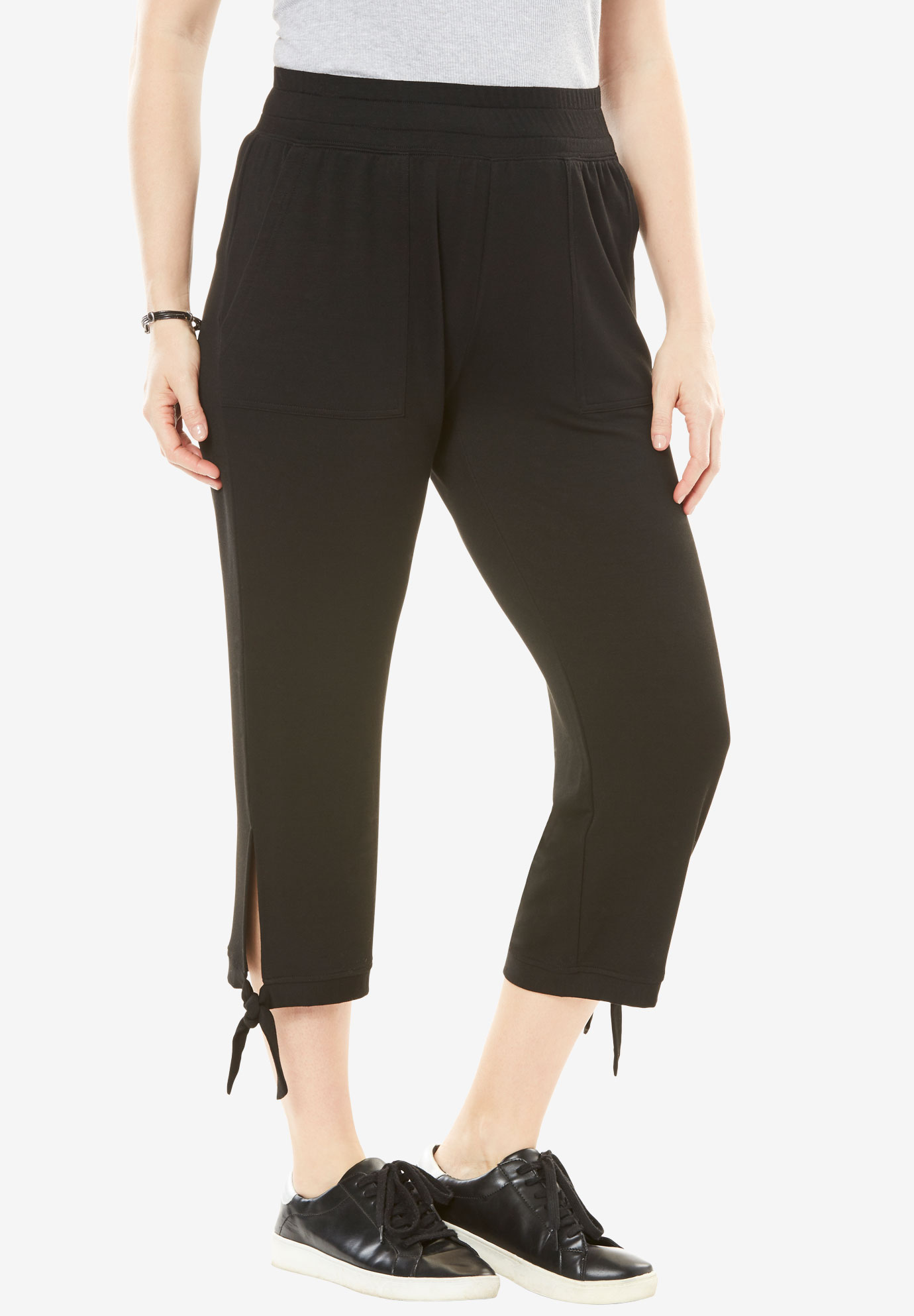 Supersoft Terry Side-Tie Capri,