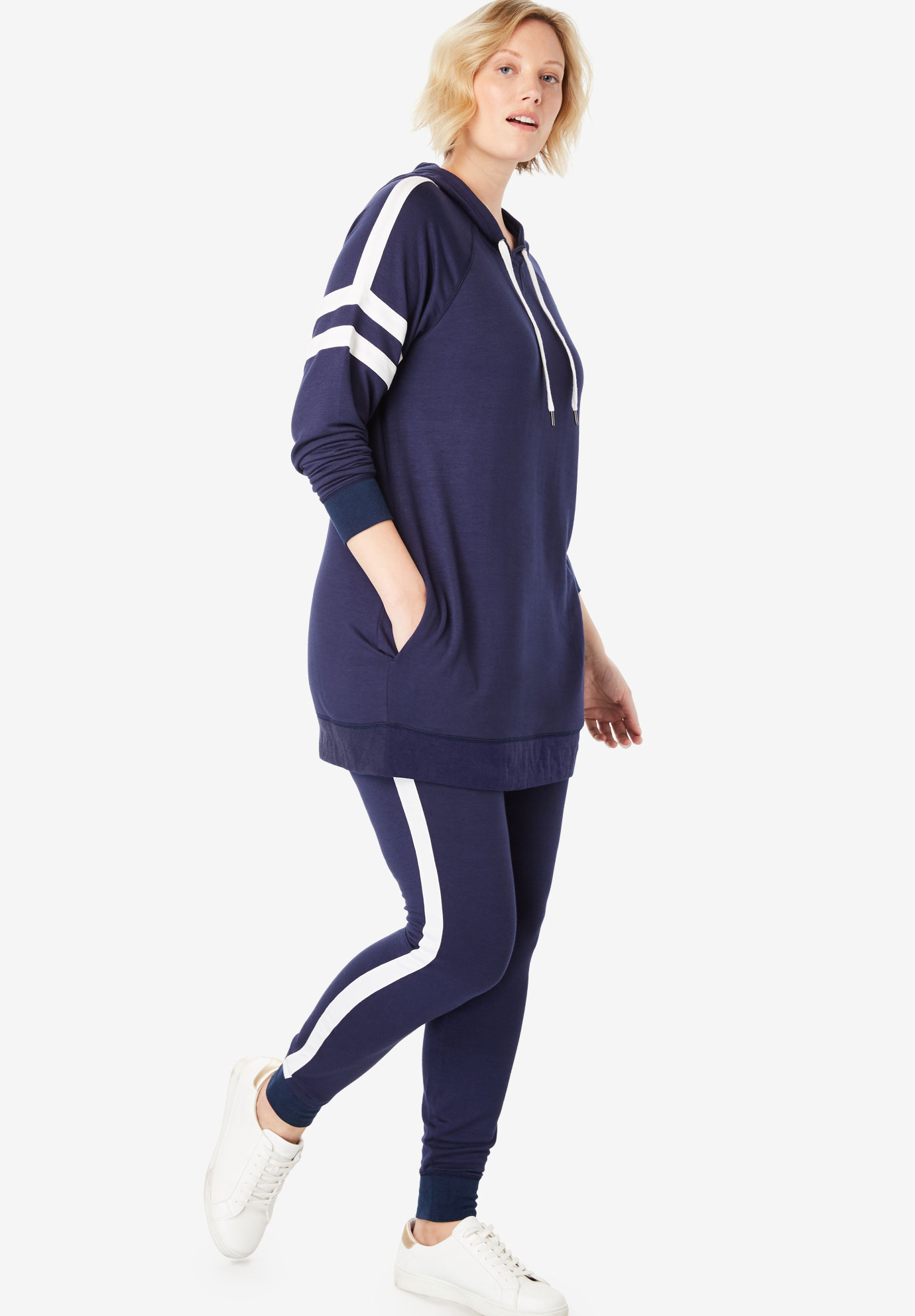 French Terry Stripe Jogger Set,