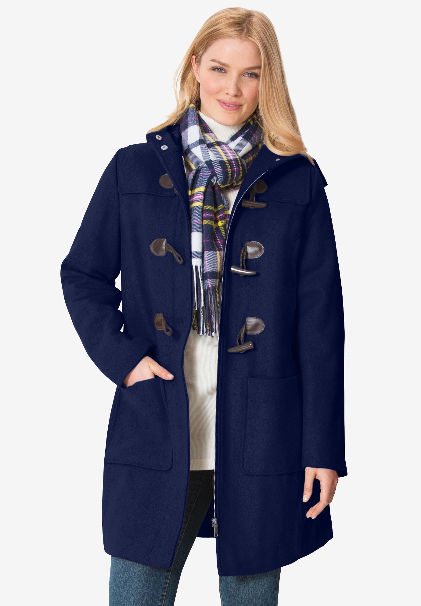 e9c73aad2e71 Classic Duffle Coat  Plus Size Wool Coats   Woman Within