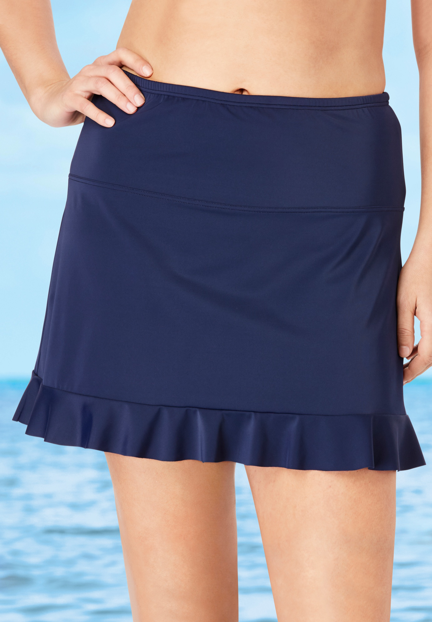 Ruffle-Trim Swim Skirt by Swim 365,