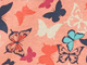 Print PJ Set by Dreams & Co.®, FLAMINGO PINK BUTTERFLY, swatch