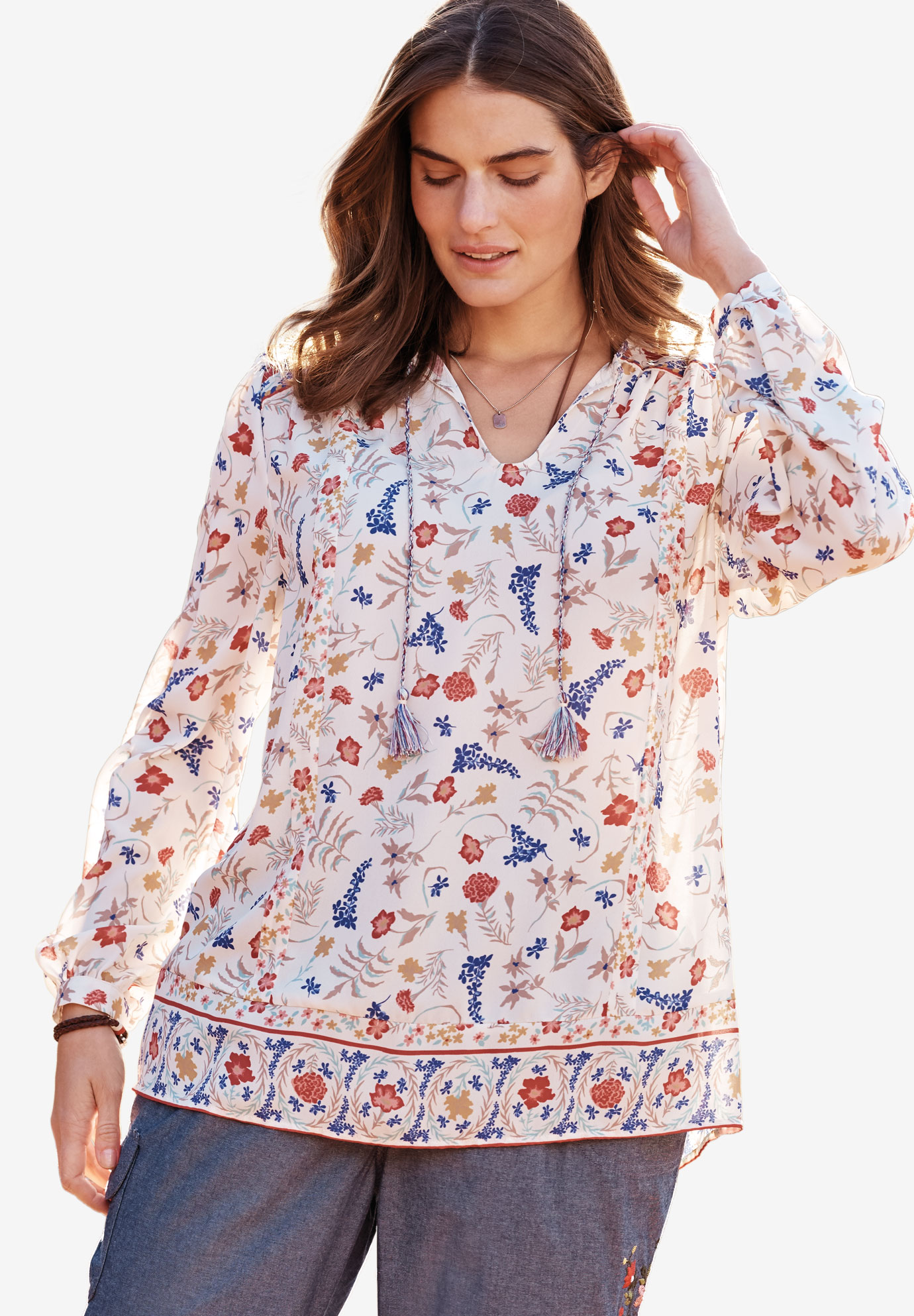 Mixed-Print Shirt,