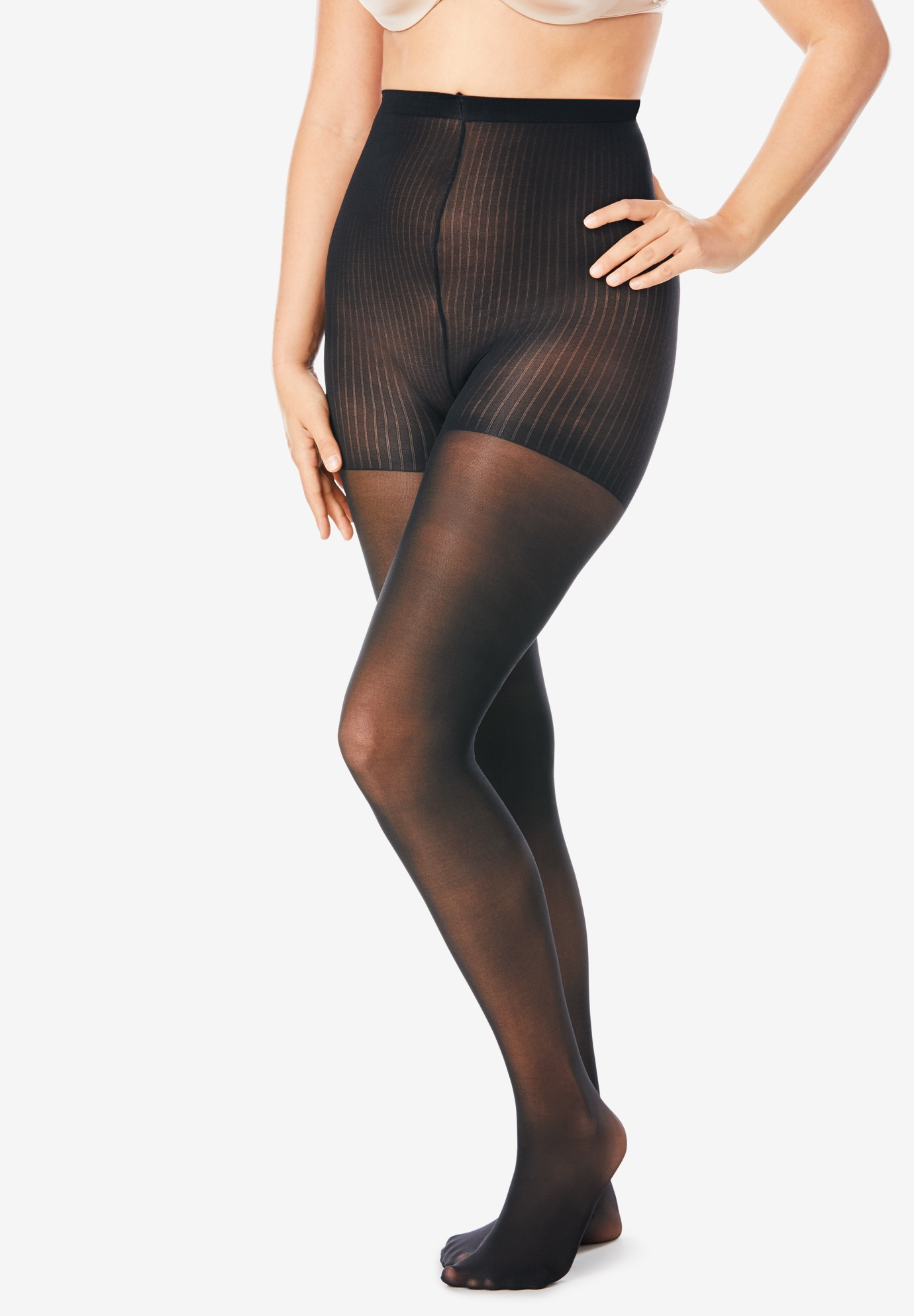 2-Pack Control Top Tights by Comfort Choice®,