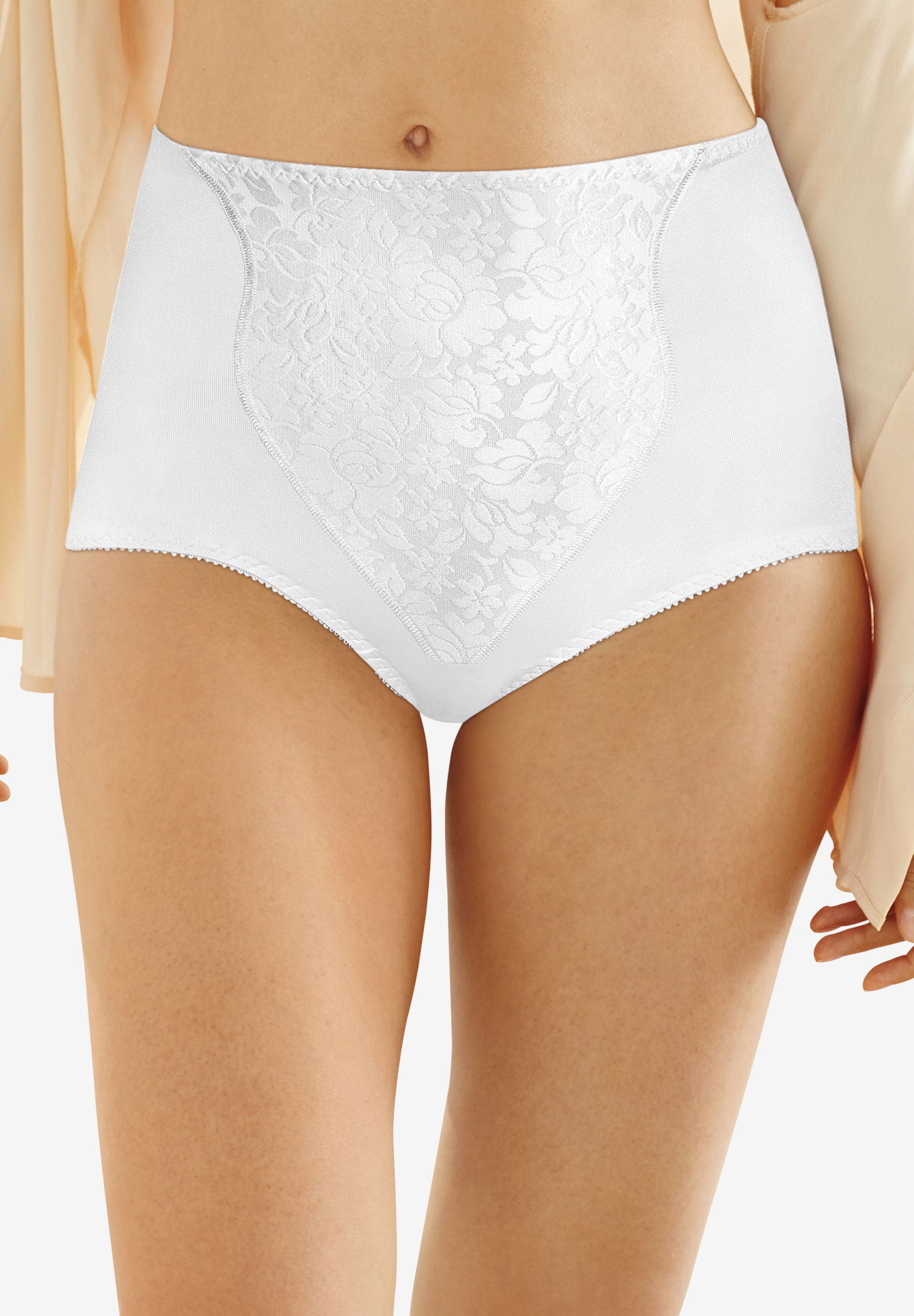Light Control Lace Panel Brief 2-Pack by Bali®,