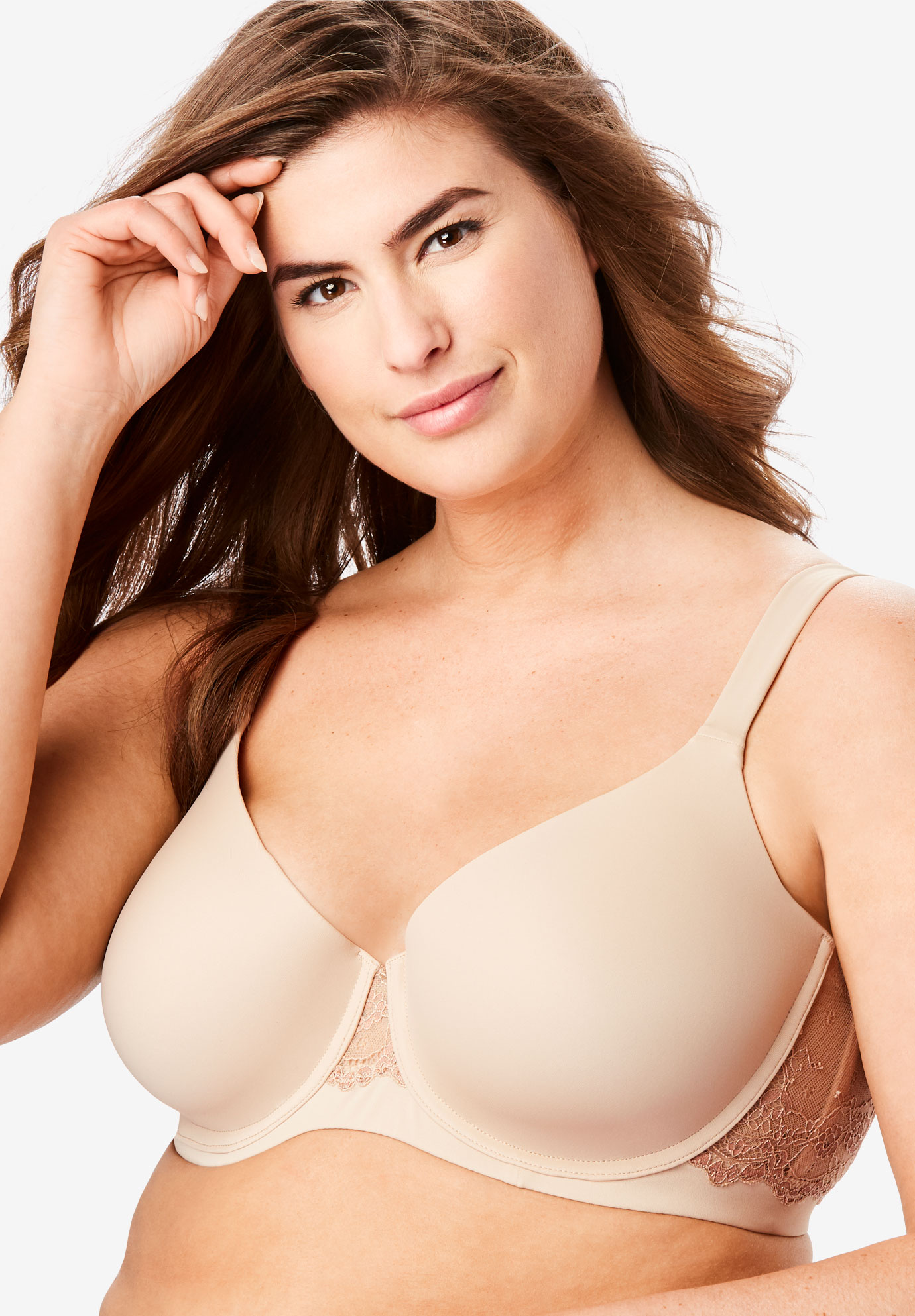 Underwire Balconette T-shirt Bra By Leading Lady®, WARM TAUPE, hi-res