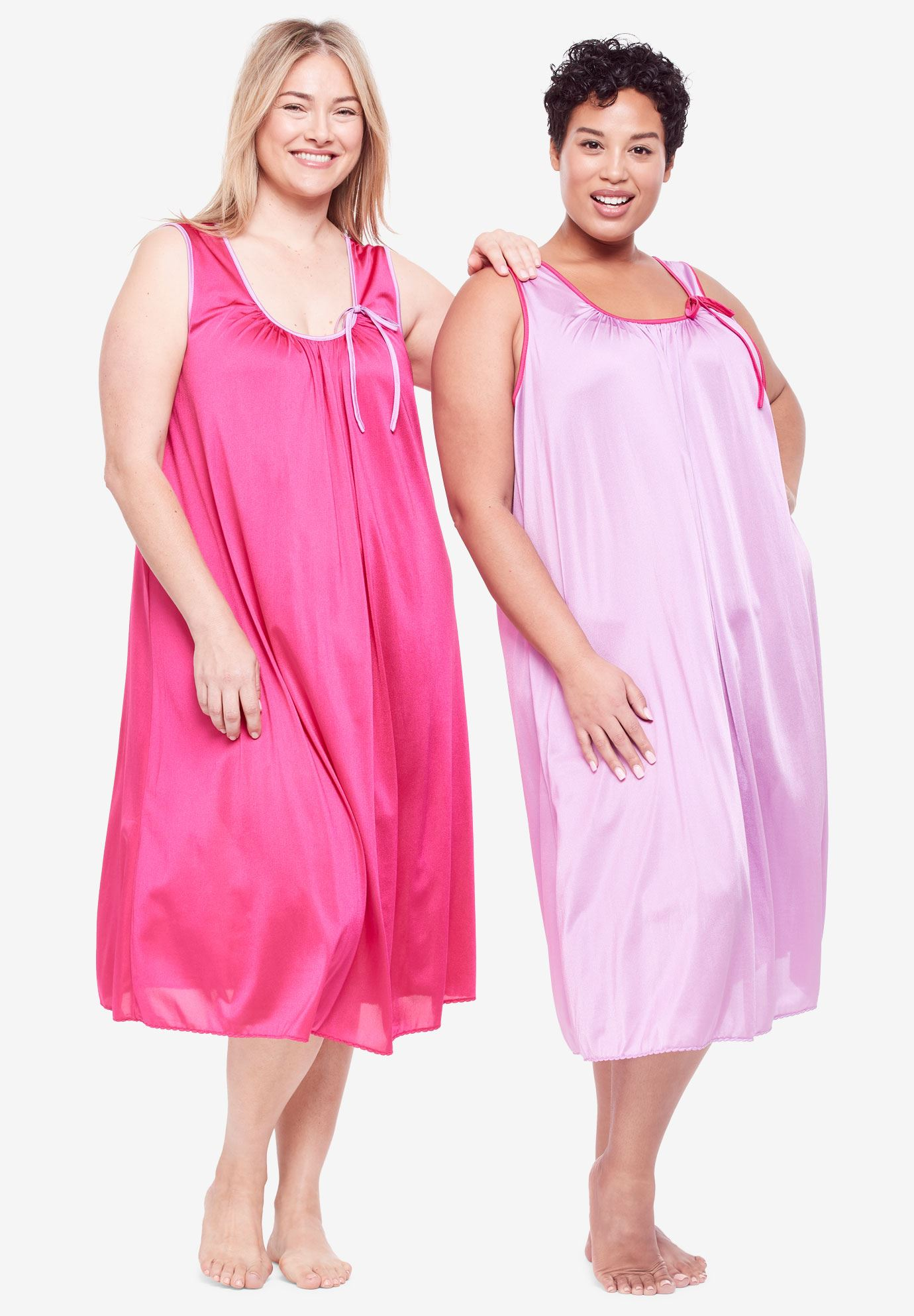 2-Pack Sleeveless Nightgown by Only Necessities®   Plus Size Sleep ...