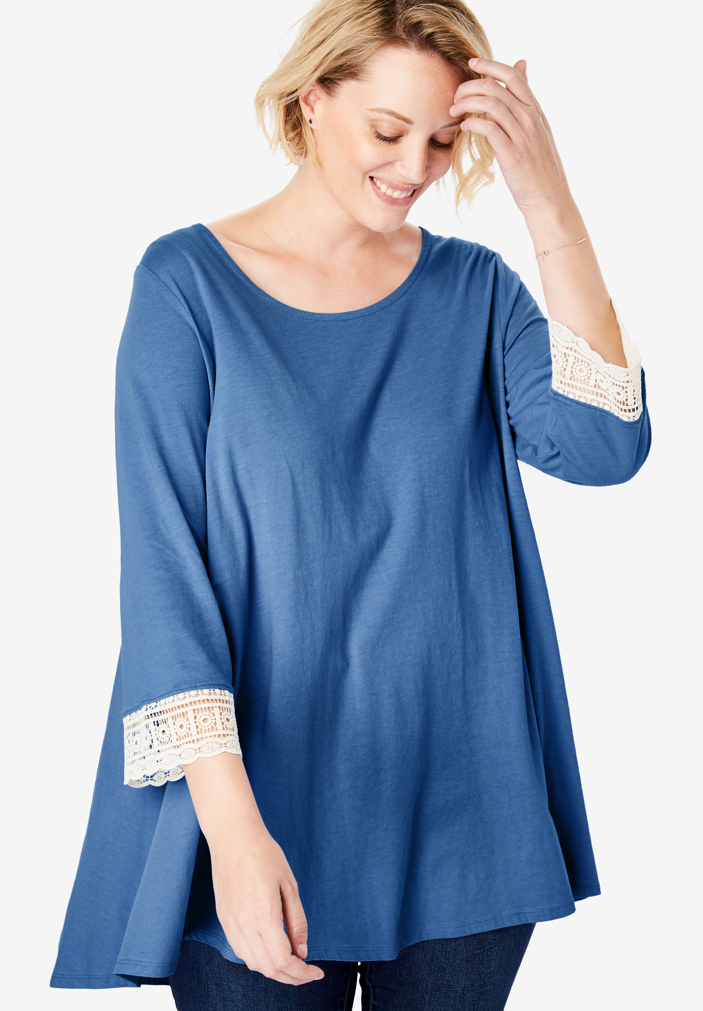 Crochet-Sleeve Tunic,