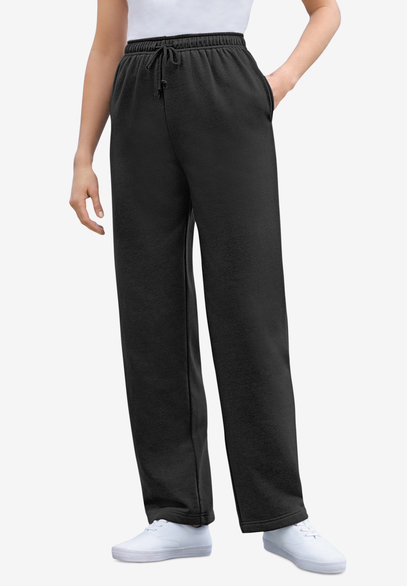 Sweat Pants Easy Fleece, BLACK, hi-res