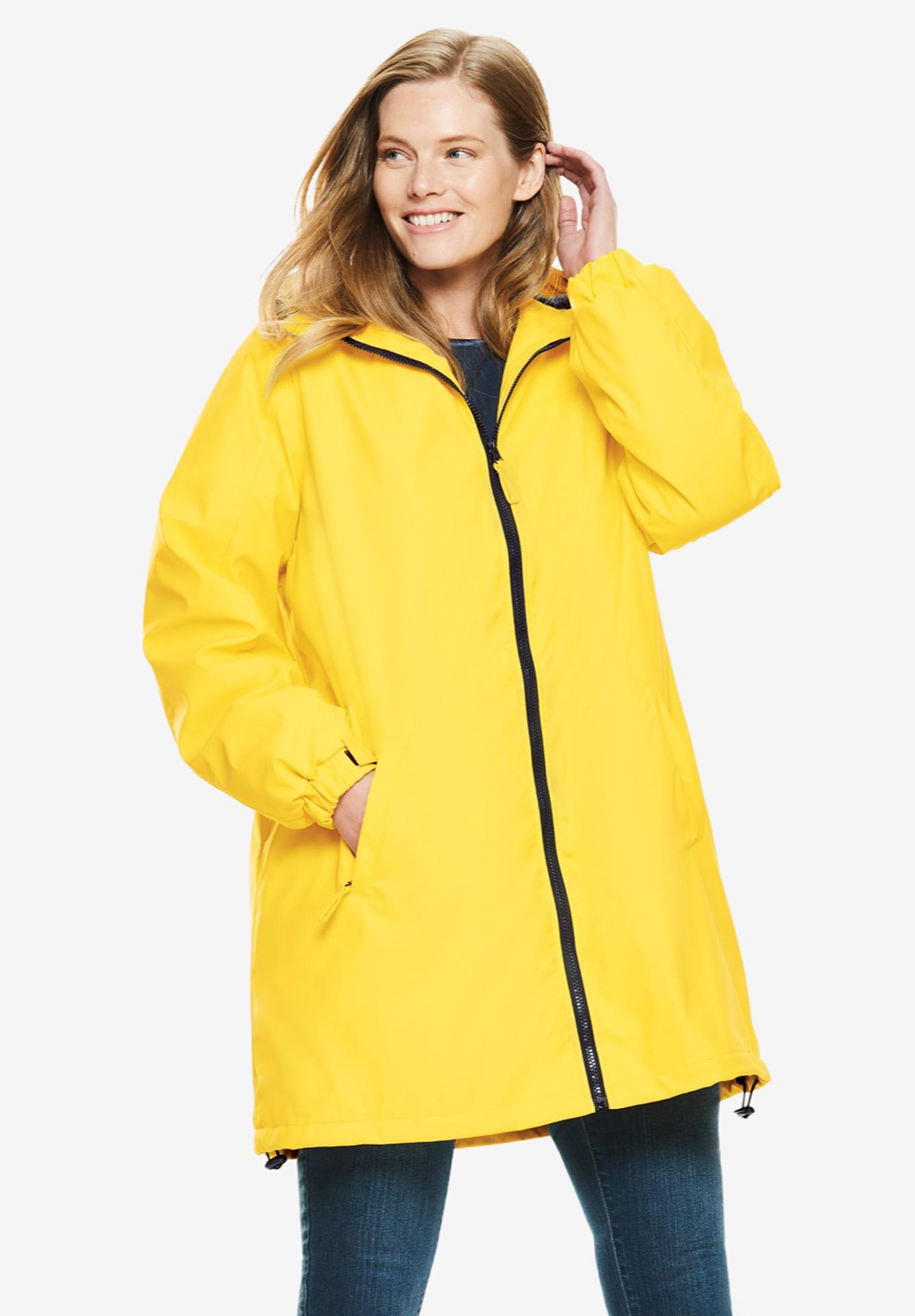 Monogrammed girls hot pink raincoat teen rain jacket youth