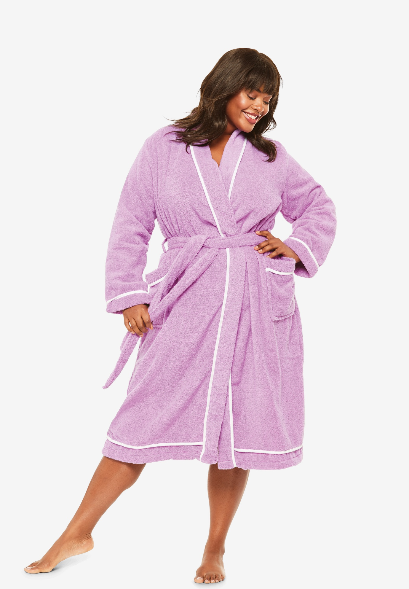 Spa Terry Short Wrap Robe by Dreams & Co.®,