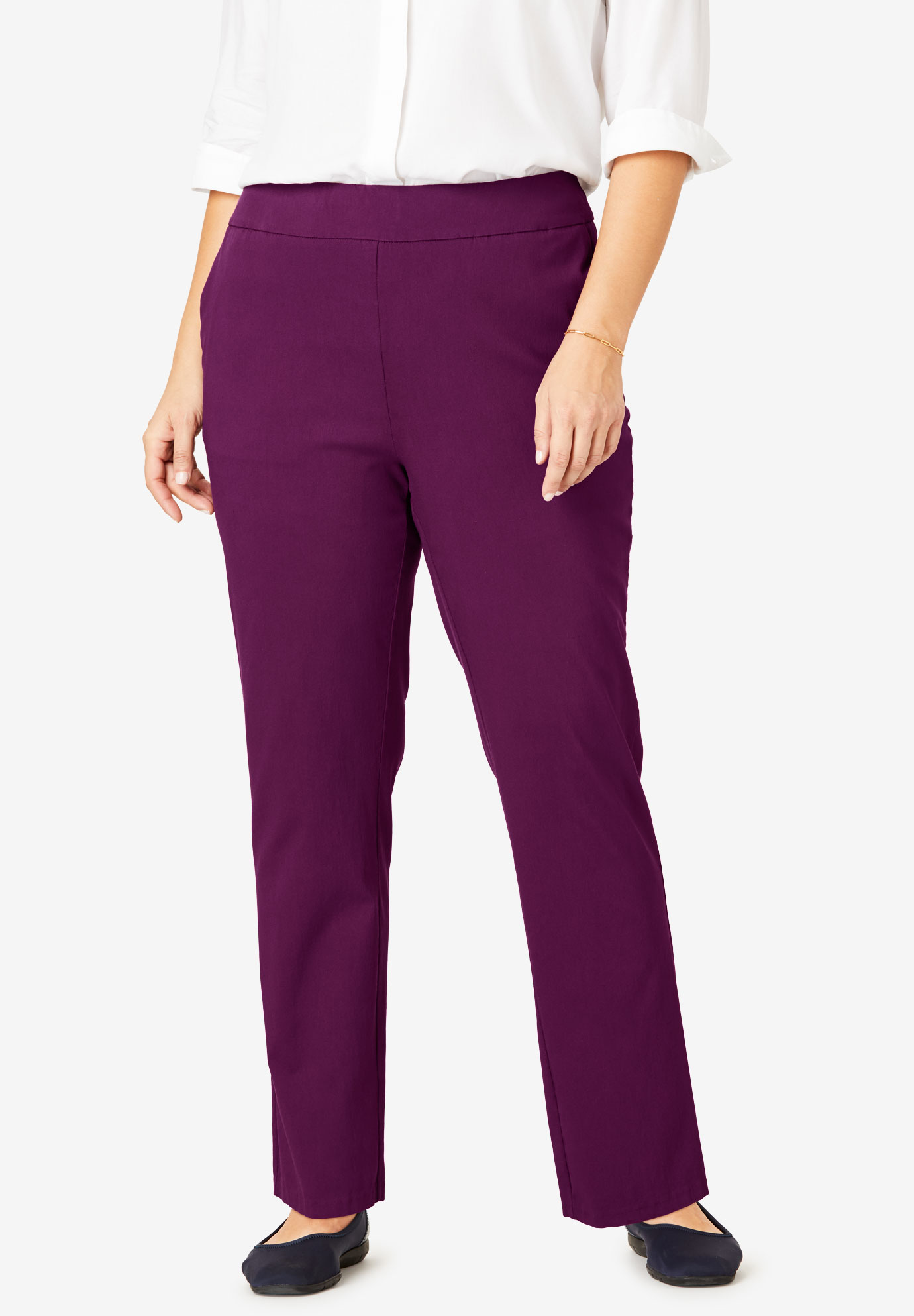 Micro Twill Straight Leg Pull-On Pant,