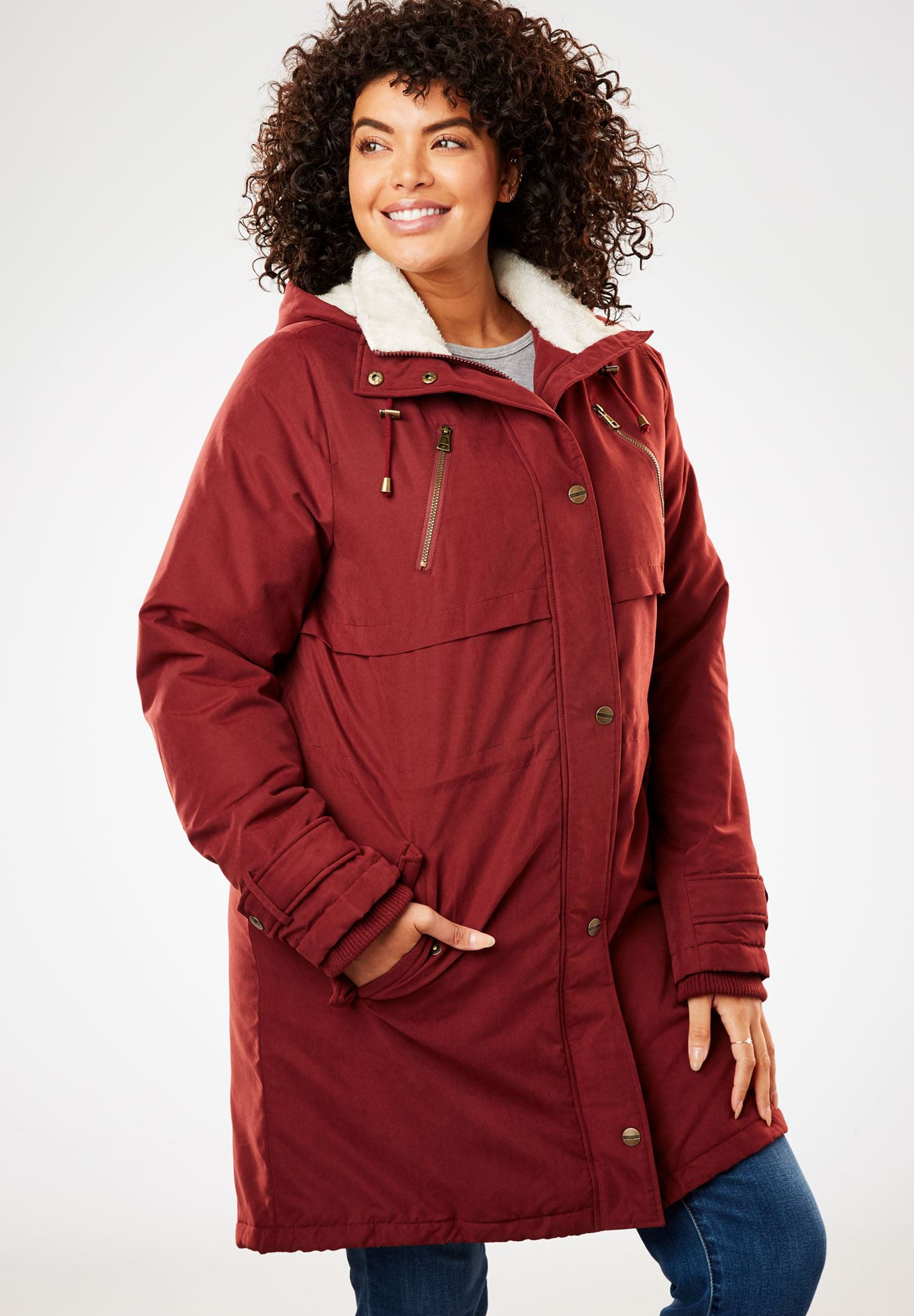 Fleece-Lined Utility Anorak,