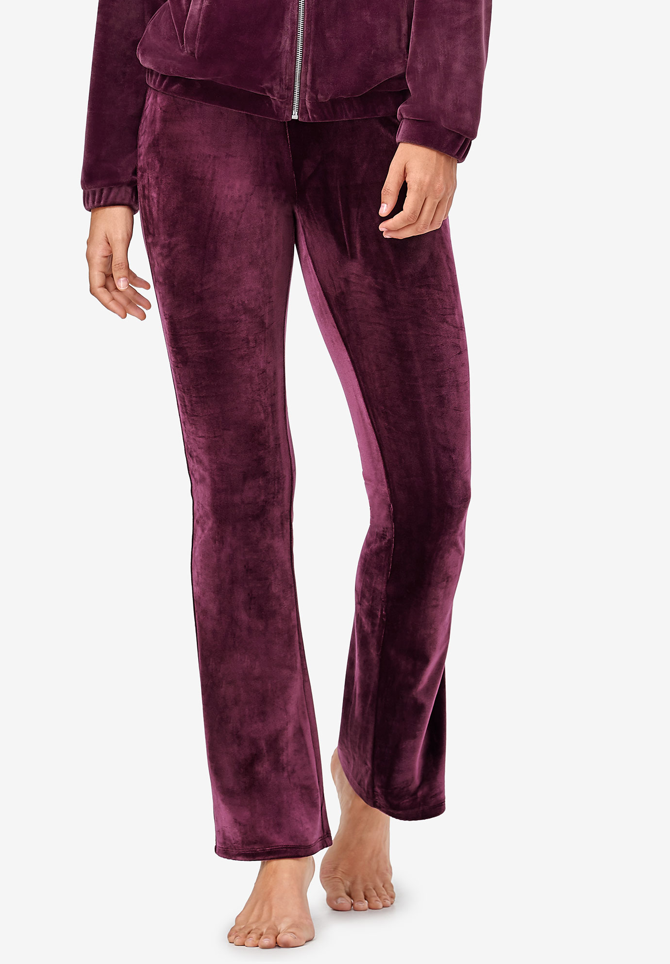 Velour Bootcut Lounge Pants by ellos®,