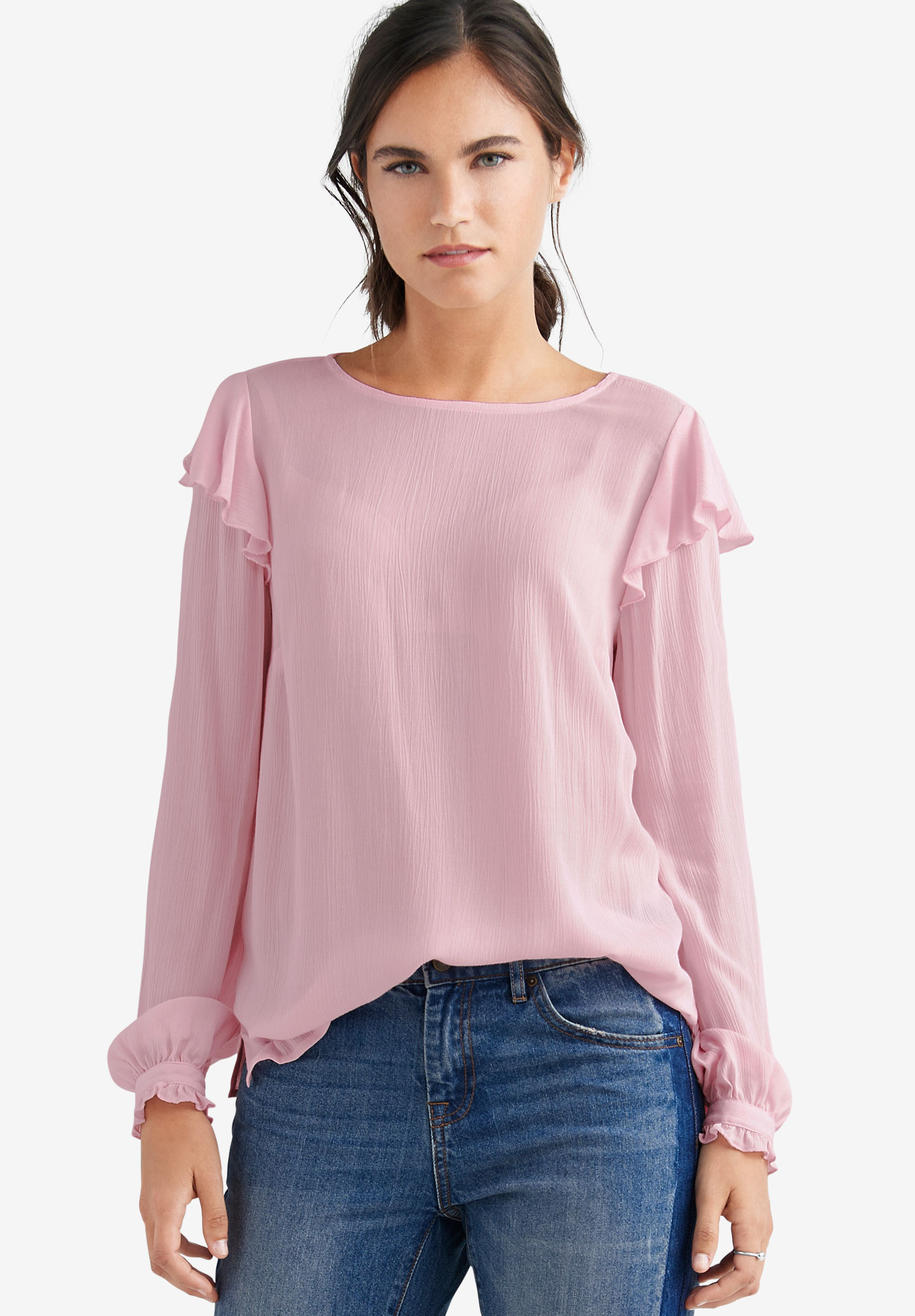 Ruffled Shoulder Blouse by ellos®,