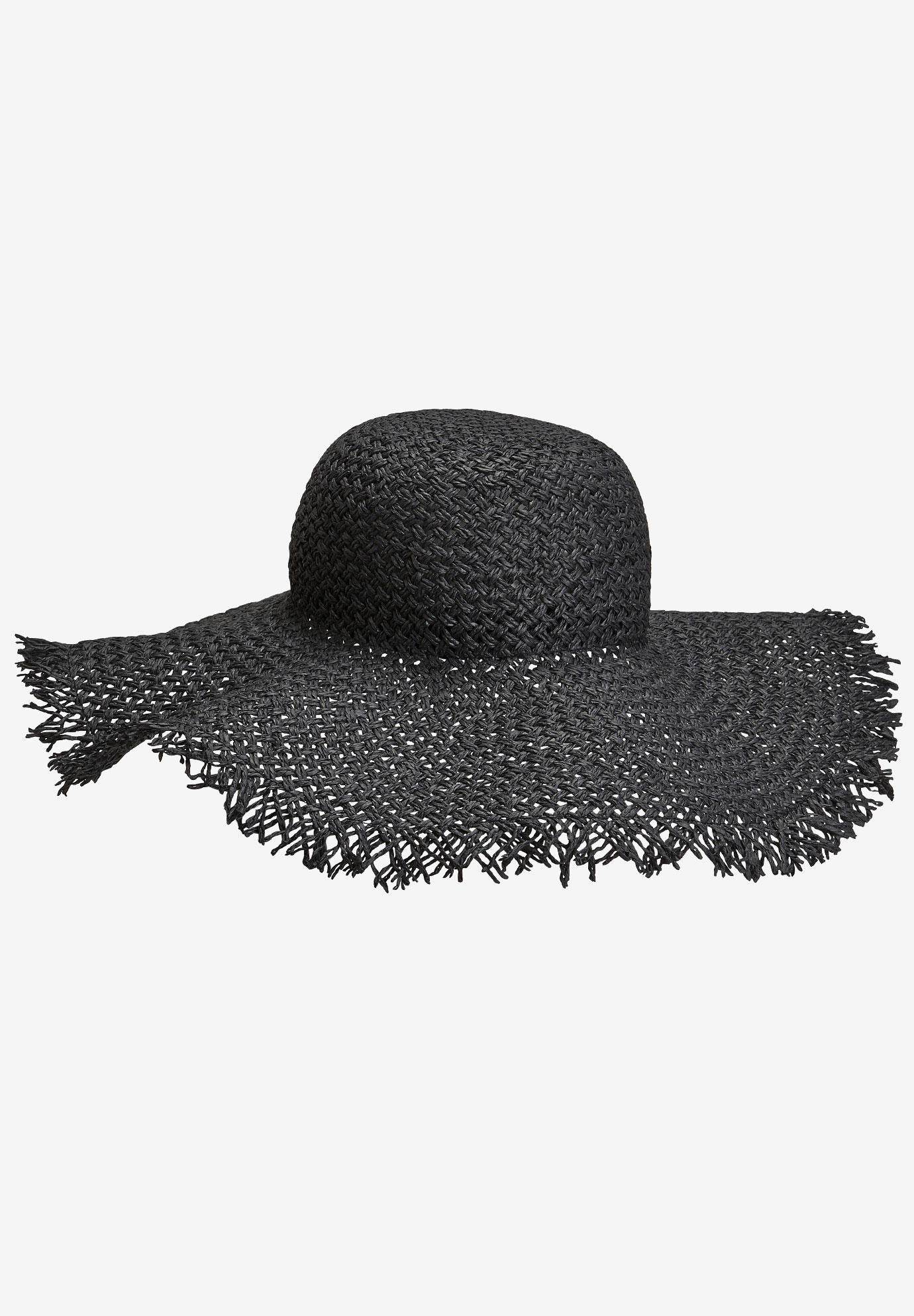 Floppy Straw Hat by ellos®, BLACK