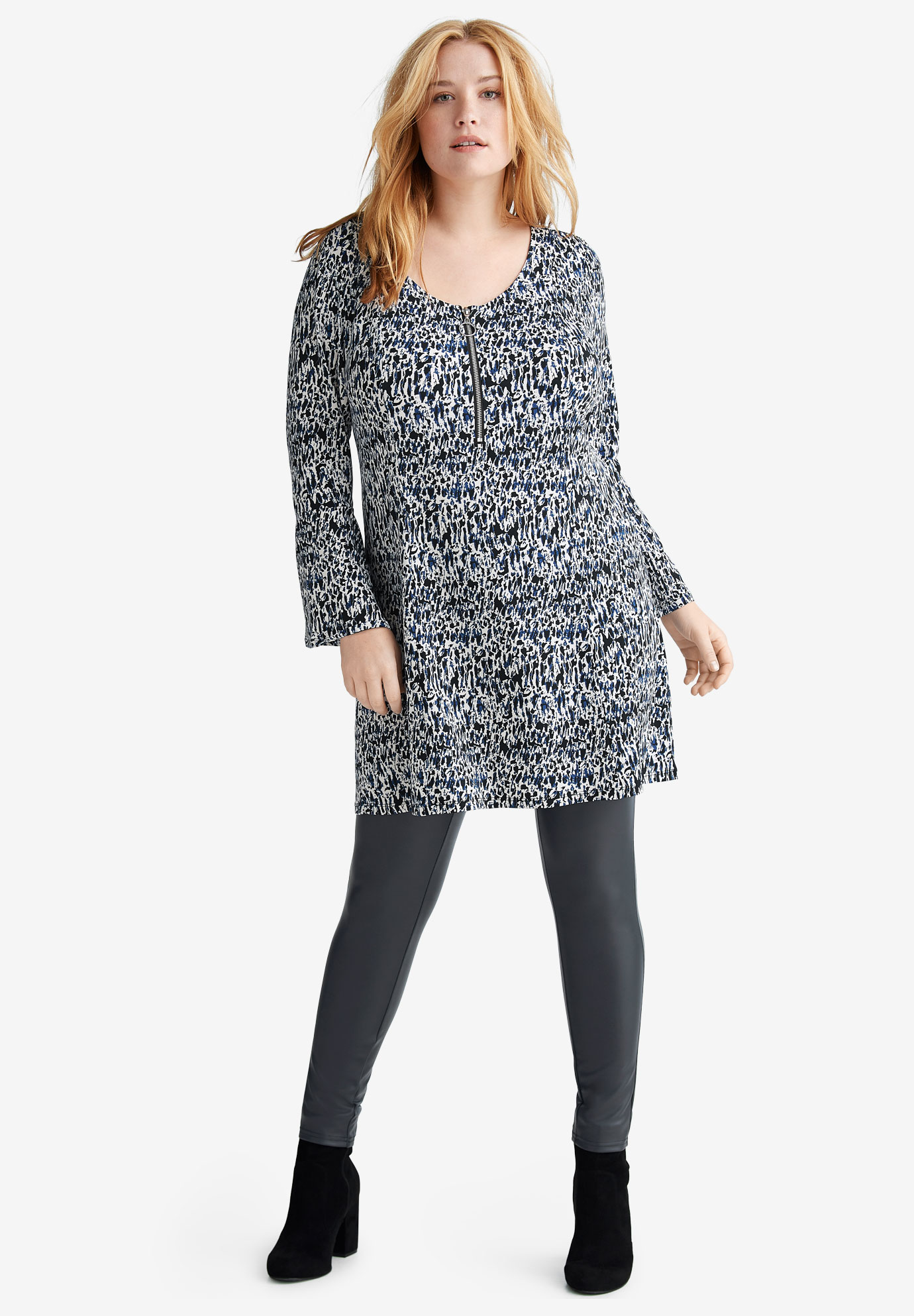 Zip-Front Tunic by ellos®,