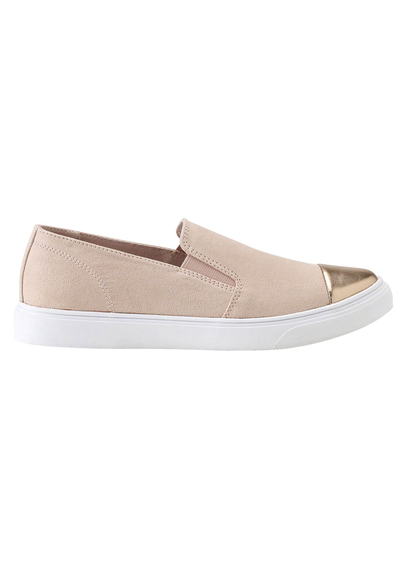 Faux Suede Slip-On Sneakers by ellos®,
