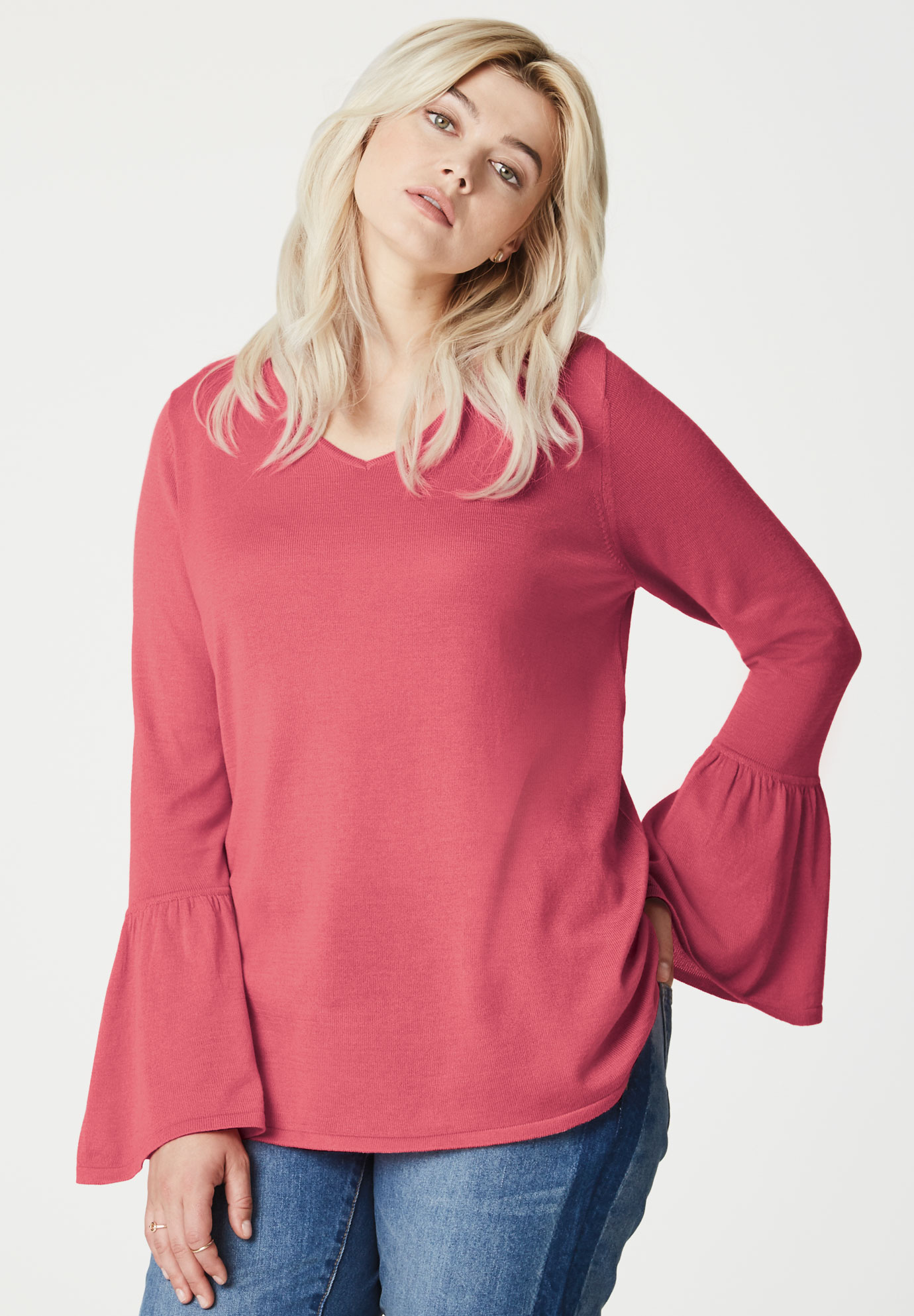 Bell Sleeve Sweater by ellos®,